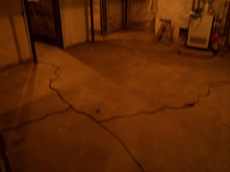 Cracked Basement Floor